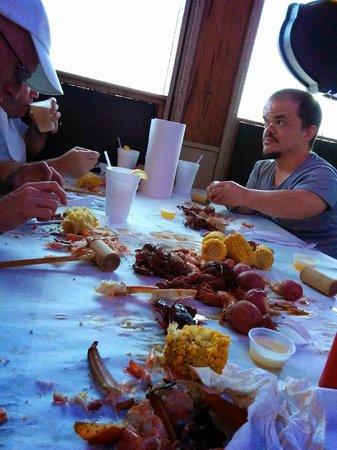 Crazy Cajun Seafood Restaurant: The remains of a crazy cajun feast...