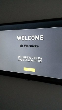 PARKROYAL Darling Harbour Sydney: Always nice getting a personalized welcome :-)