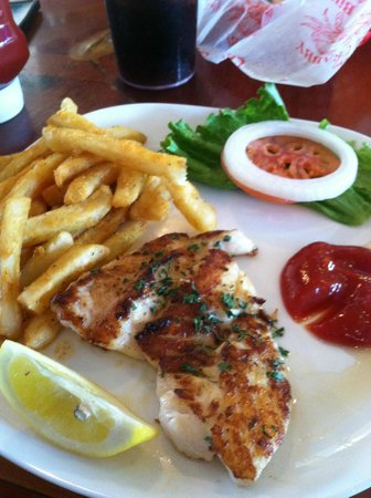 Crabby Bill's Clearwater Beach: Grilled Grouper