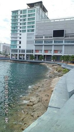 back of Suria Sabah by the bay