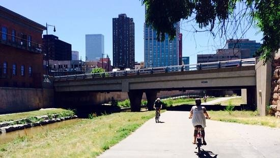 Cherry Creek Trail: great way to cross the city