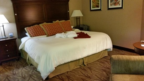 Glenwood Hot Springs Lodge: This is a good picture of the bedroom but it is so much roomier than this.