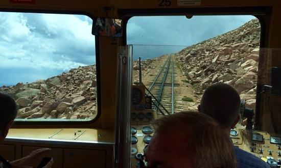 Pikes Peak Cog Railway: hold on