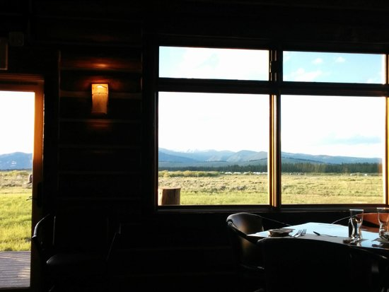 Bar N Ranch Restaurant : View out the window near our table