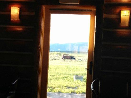 """Bar N Ranch Restaurant : """"Back door"""" near our table"""