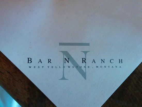 Bar N Ranch Restaurant : Napkins