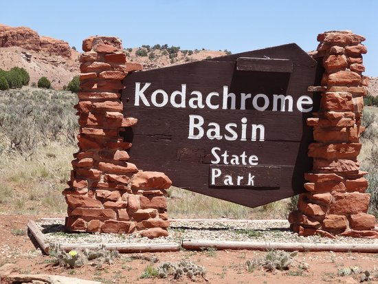 Kodachrome Basin State Park: State Park Sign