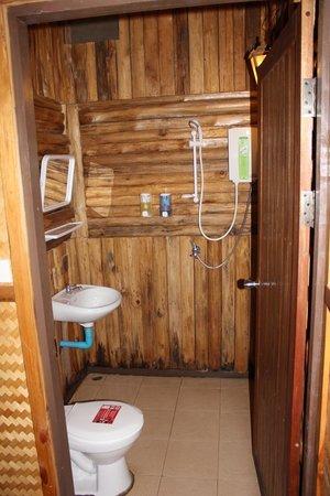 River Kwai Jungle Rafts Resort: coin douche et wc