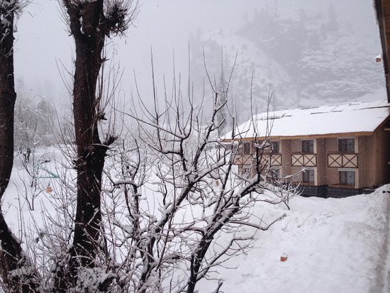 Solang Valley Resort: Another snow-clad cottage
