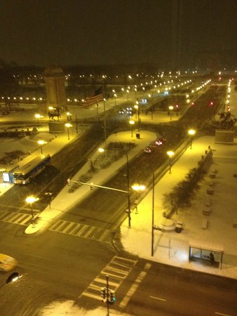 The Congress Plaza Hotel and Convention Center: Beautiful view out to Lake Michigan NYE 2013