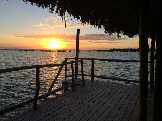 Flamingo Bay Water Lodge: Arrival Sunset from Cabin 120