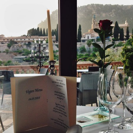 Restaurante Valldemossa: Menu just for me made me feel special :)