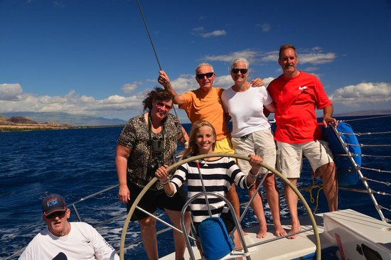 Scotch Mist Sailing Charters : Skipper Lilly at the helm!