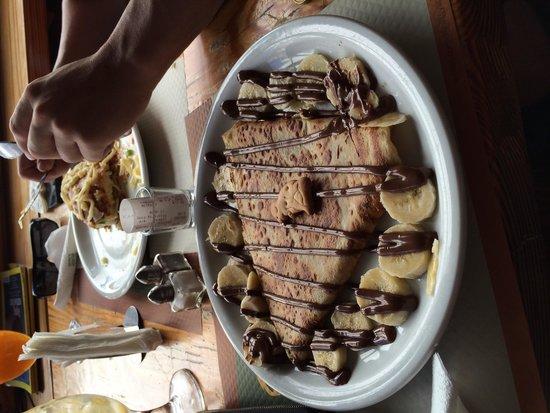 Corner: Chocolate banana crepe! Amazing!