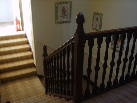 Ford Bank Country House Hotel: stairway with tartan carpet