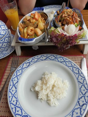 Nakhon Thai: Two chicken dishes
