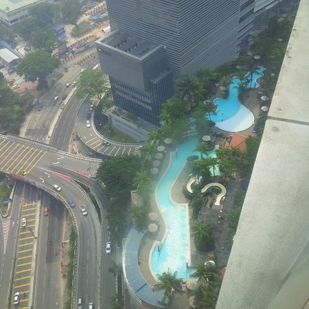 Hilton Kuala Lumpur: view of pool from 29th floor