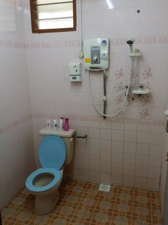 Sea View Hotel & Holiday Resort : Bathroom, old but functional