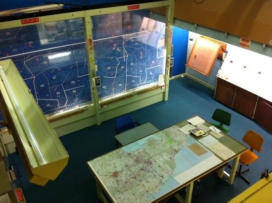 York Cold War Bunker : the Operations room