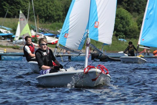 Galloway Activity Centre: Zak sailing a Pico at GAC