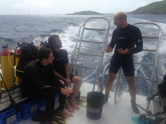Sunchaser Scuba Ltd. : Getting ready to dive with Ben.
