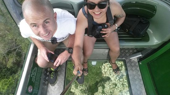 Brett's Kuranda Half Day Tour: Gondola ride with the glass floor. Just mention it to your tourguide that you want to upgrade to
