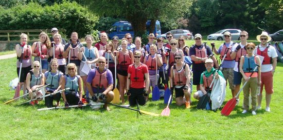 Ross on Wye Canoe Hire - Day Trips: Brown Dog Charity Canoe Team 2014