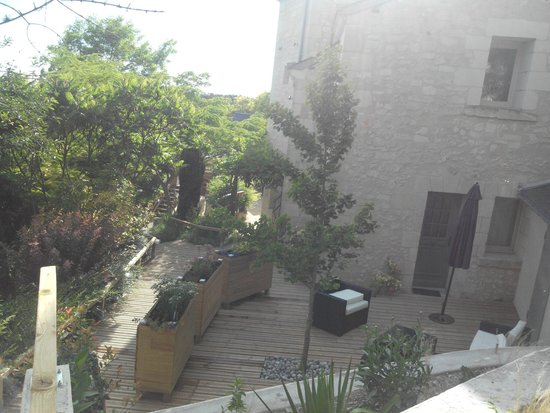 Troglododo : Terrasse de notre chambre