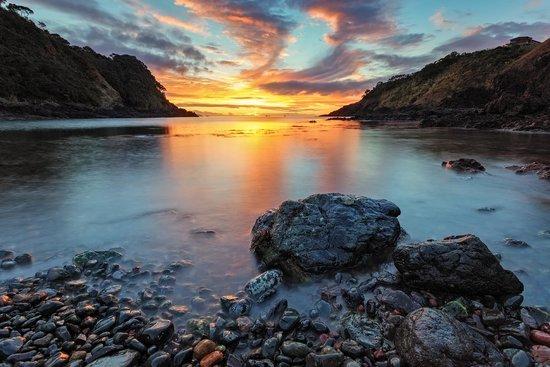 Sunrise at Waite Bay, Pacific Rendezvous Motel Tutukaka, NZ