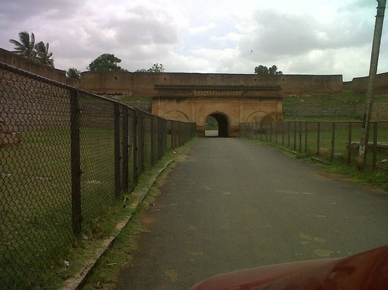 Nandi Hills: VIEW OF THE FORT, BUILT IN 1501,  WHICH IS ALSO THE BIRTH PLACE OF TIPU SULTAN.