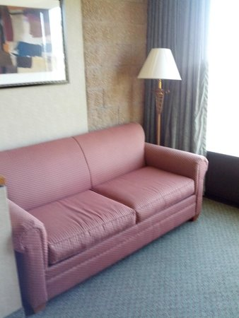 Clarion Hotel Anaheim Resort: The sitting area by the floor to ceiling window