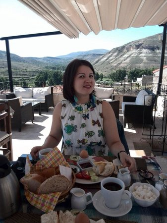 Monte Cappa Cave House: Breakfast at Monte Cappa