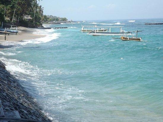 Rama Candidasa Resort & Spa: Rama Candidasa View from Ocean Front
