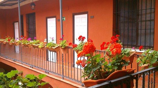 Al Andalus Jerez: Balcon del patio abierto