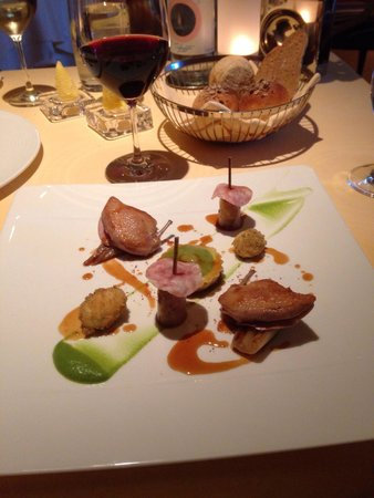 The Dining Room at Whatley Manor: Quail starter