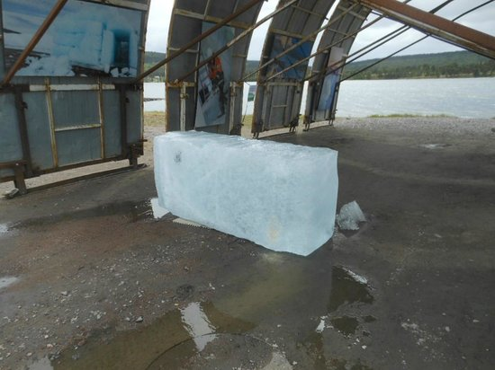 Icehotel: Ice block to be used for the 2015 hotel