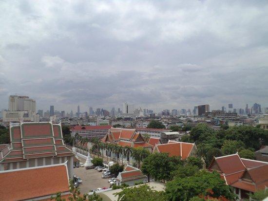 The Golden Mount (Wat Saket): View of the old city