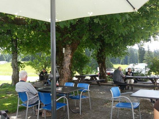 Auberge de la Couronne: Garten
