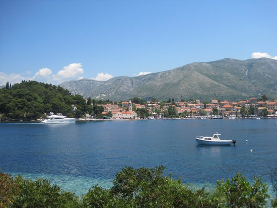 Dubrovnik Exclusive Transfers Rentals: View across from one of the 2 peninsulas