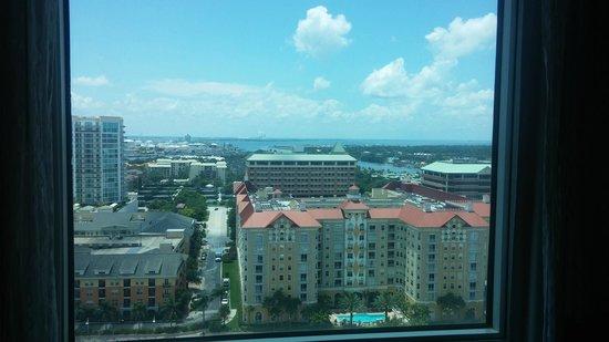Tampa Marriott Waterside Hotel & Marina: View from room 2031