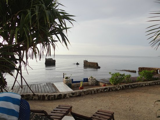 Las Flores: evening view of the coast