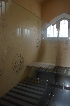 Jailhouse Accommodation: Original cell on display