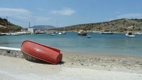 Naxos Town, Greece: Shinoussa  Blick von der Hafentaverne