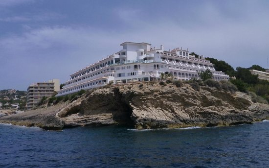 SENTIDO Punta del Mar: From the sea showing the position of the hotel