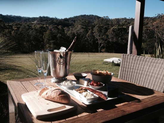 Cedars Mount View: anti pasto platter as part of The Indulgance package. And the amazing view to enjoy the cheese a