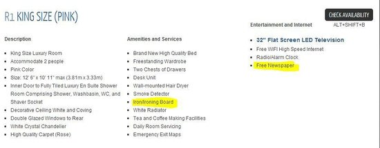 Brighton Surf : False website amenities listed
