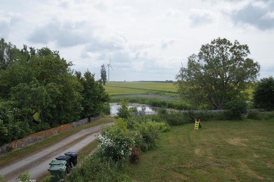 HovedskovGaard: View from the rooms overlooking the beautiful garden