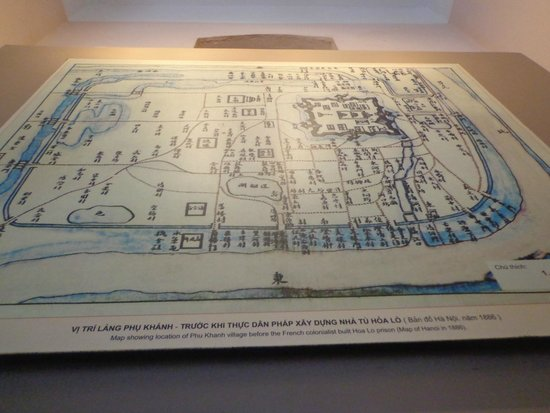 Prisión de Hoa Lo: Map