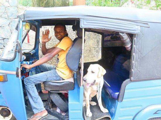 Eva Lanka Hotel: Isharé con la mascota de Eva, nuestro travieso Ed
