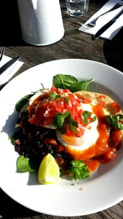 Sails too: Mexican breakfast- Eggs and refried beans